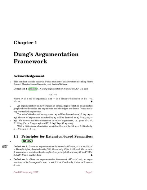 Handout: Argumentation in Artificial Intelligence: From