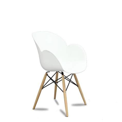lot chaise pas cher lot de 2 chaises design ki oon couleur blanc achat vente