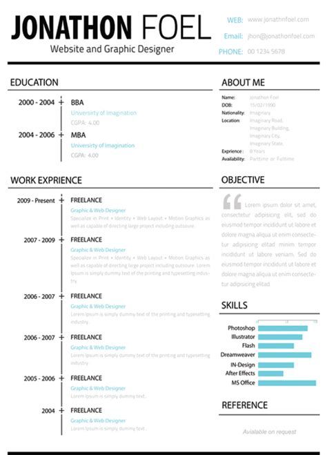 resume exle free creative resume templates for mac