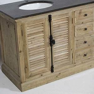 meubles de salle de bain With meuble salle de bain avec porte persienne