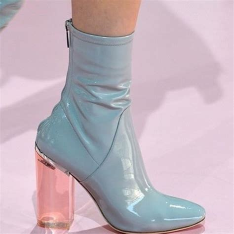Shoes: blue, wedges, boots, ankle boots, pink, tumblr