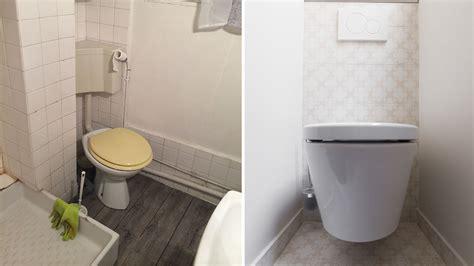 decoration wc suspendu exemples damenagements