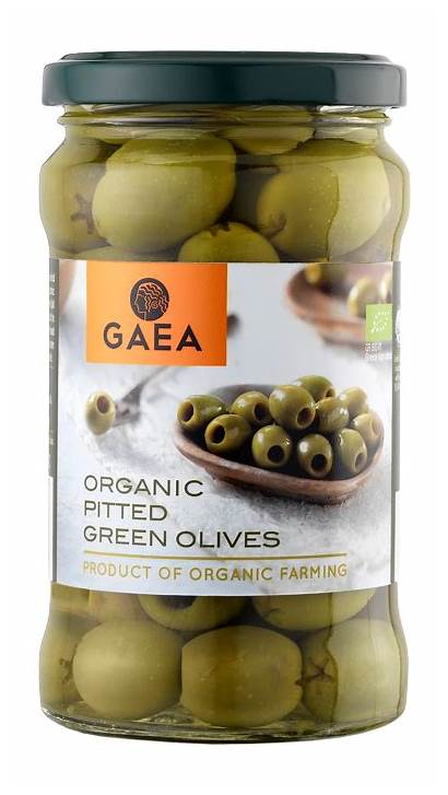 Pitted Olives Organic Gaea Greek Marinated Gr