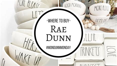Where To Buy Rae Dunn?!  #mondunnmonday  Youtube