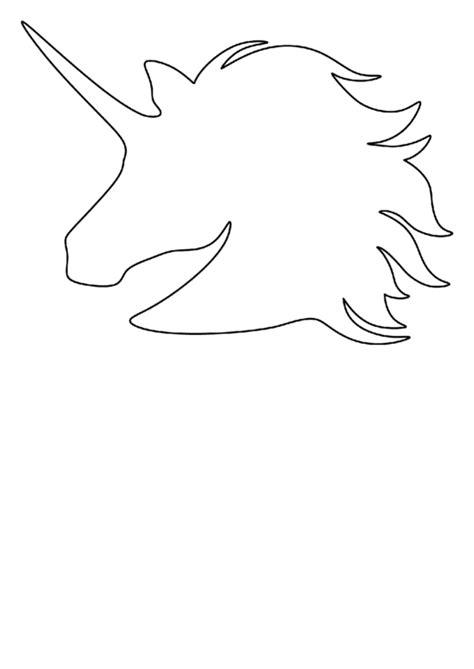 unicorn head pattern template printable