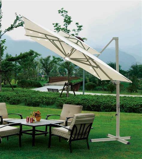 southern patio  square aluminum offset umbrella