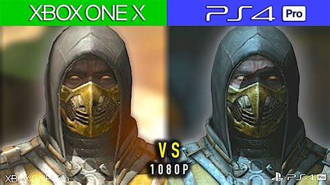 Xbox One X Vs Ps4 Pro Comparativa Gráfica 1080p Mortal