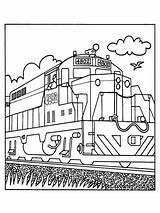 Coloring Train Trains Transportation sketch template