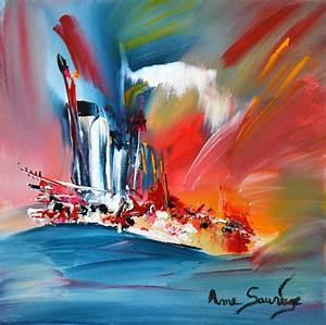 Tableau Peinture Sur Toile : tableaux peinture moderne acrylique ~ Teatrodelosmanantiales.com Idées de Décoration