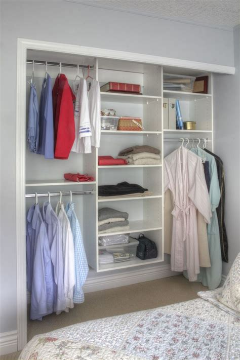 Ideas For Hanging Clothes Without A Closet by 9 Storage Ideas For Small Closets Install Bars