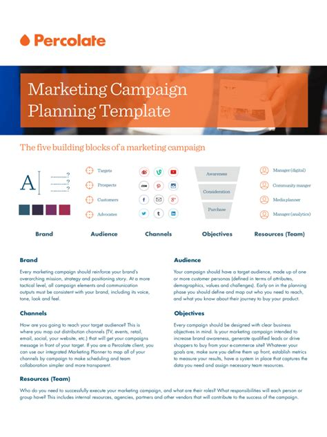 marketing caign plan template marketing caign template 2 free templates in pdf word excel