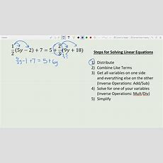 Solving One Variable Linear Equations With Steps Youtube