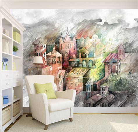 castle  wall murals wallpaper decal decor home kids