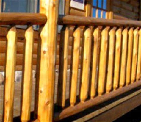 log railing  railing northern white cedar white