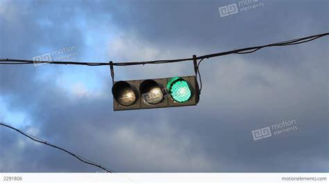 hanging traffic light stock footage 2291806
