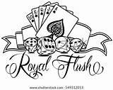 Poker Template Flush Royal Vector Please sketch template