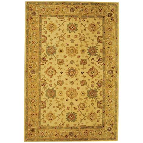 5 8 Area Rugs by Safavieh Anatolia Ivory Gold 5 Ft X 8 Ft Area Rug An546b