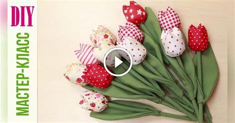 cucito creativo fiori di stoffa come fare dei bellissimi tulipani di stoffa un classico