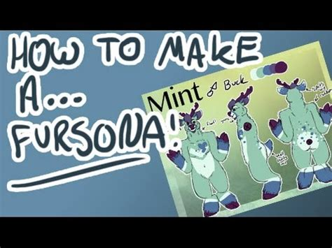 How To Create A Fursonaref Sheet! Youtube