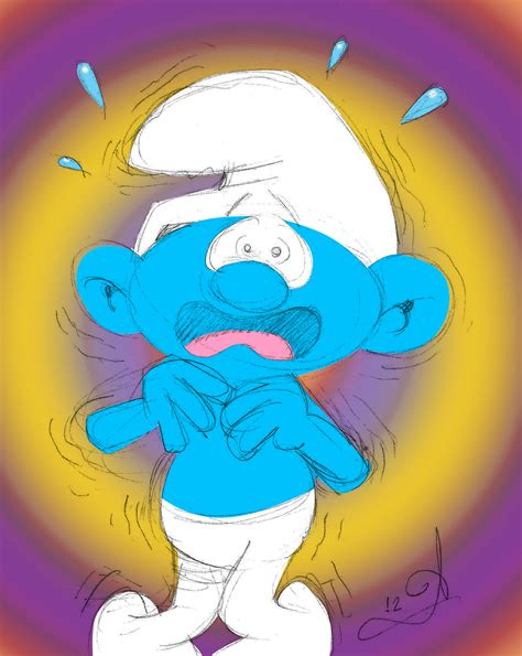 Image Gallery Scaredy Smurf