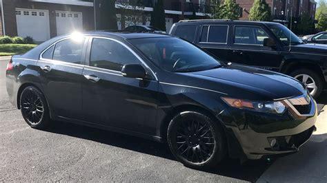 decided  pick   black wheels    tsx
