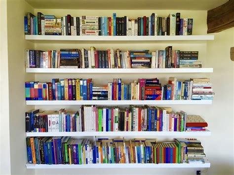 Floating Shelves Bookcase by White Floating Shelves Made To Measure For Alcoves And