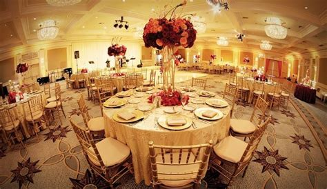 red  gold tablescape wedding reception themes