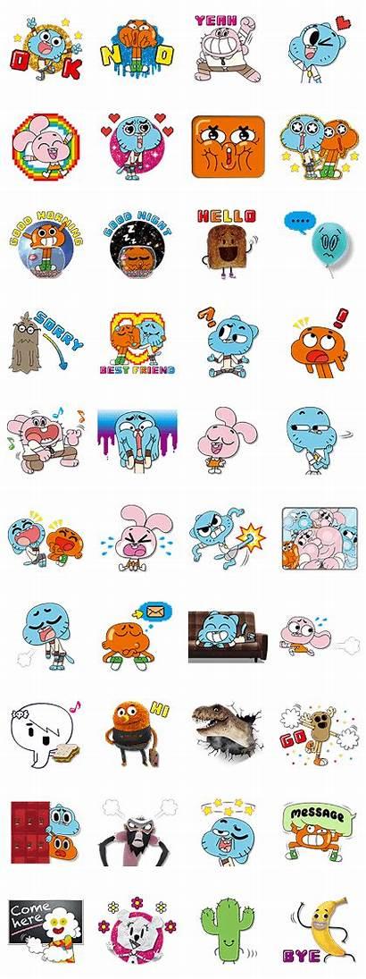 Gumball Amazing Stickers Line Sticker Whatsapp Mundo
