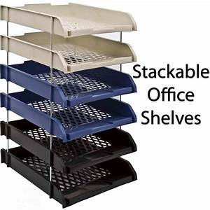 plastic stackable a4 paper letter document stationary in With document shelf