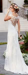 stella york lace a line trumpet wedding dresses With stella york lace wedding dress