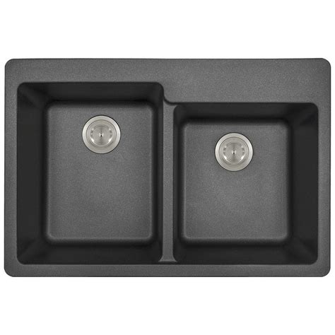 mr direct kitchen sinks reviews mr direct drop in granite composite 33 in 3 offset 7049