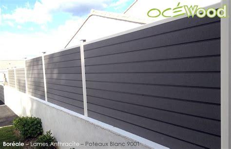 palissade composite brico depot terrasse jardin bois