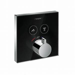 Hansgrohe Unterputz Thermostat : showerselect glas brausearmaturen 2 verbraucher schwarz chrom 15738600 ~ Watch28wear.com Haus und Dekorationen