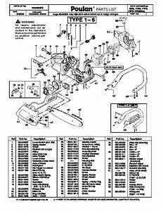 Poulan 2150 Chainsaw Parts Diagram