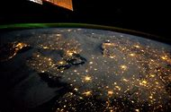 Earth Night From Space Station