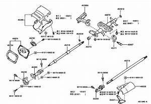 Steering Column  U0026 Shaft For 1990