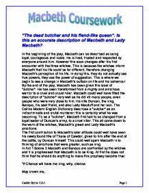 macbeth gcse coursework help Category: gcse english literature coursework title: shakespeare's macbeth - macbeth's guilt.