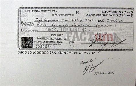 Los cheques de Rodil Hernández - Revista Factum