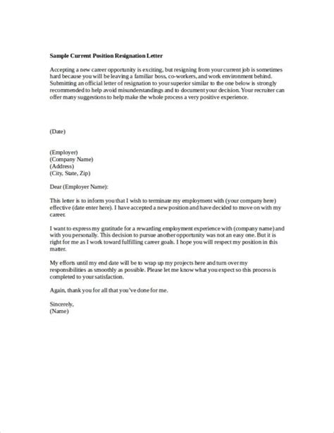 company resignation letter samples templates