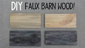DIY Faux Barn Wood Paint Trick! - YouTube