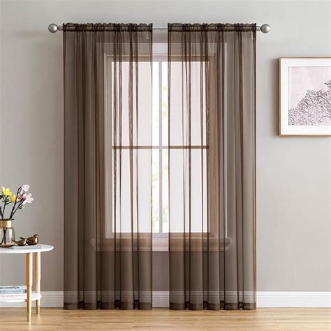 modern white sheer voile curtains  living room pure