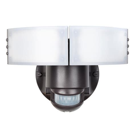 defiant security light defiant 180 degree bronze motion outdoor integrated led