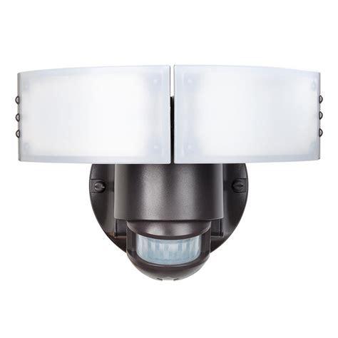 defiant led security light defiant 180 degree black motion sensing outdoor security