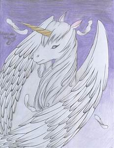 Unicorn with wings by violetdarknessmist on DeviantArt