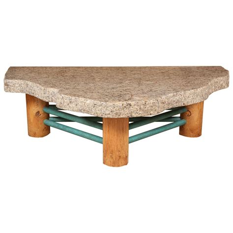 custom granite coffee table by steve at 1stdibs