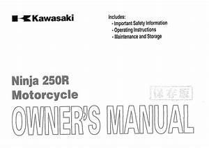 Kawasaki Ninja 250r 2006 Owner U0026 39 S Manual