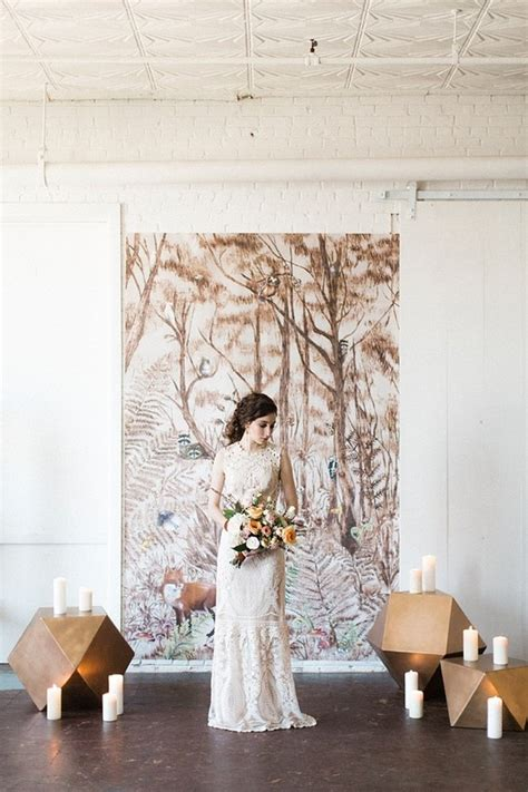 Feminine Forest Wedding Inspiration Wedding And Party