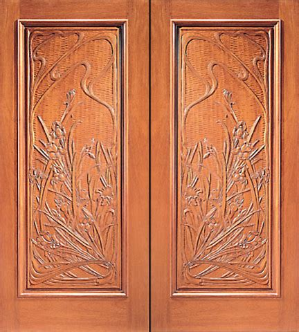 kitchen cabinets in houston prehung door carved 1 panel in mahogany 6132