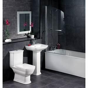 Bathroom tiles black and white decoseecom for Black bathroom shower ceramic tile