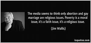 The media seems... Poverty And Religion Quotes